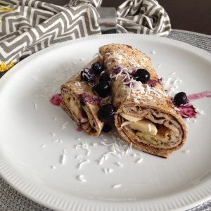 French toast breakfast wrap
