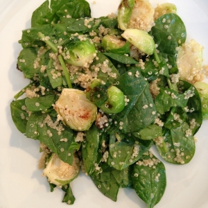 roasted sprouts salad